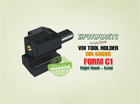 SPHOORTI | VDI TOOL HOLDER | RIGHT HAND AXIAL | FORM C1