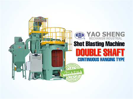 DOUBLE SHAFT HANGING TYPE CONTINUOUS SHOT BLASTING MACHINE